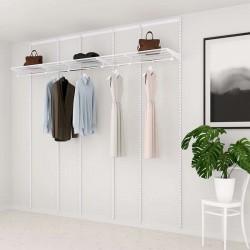 Kit Rangement Dressing Basic Elfa Blanc 270 Cm-Elfa