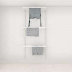 Solution Rangement Buanderie Elfa Classic Blanc option 1