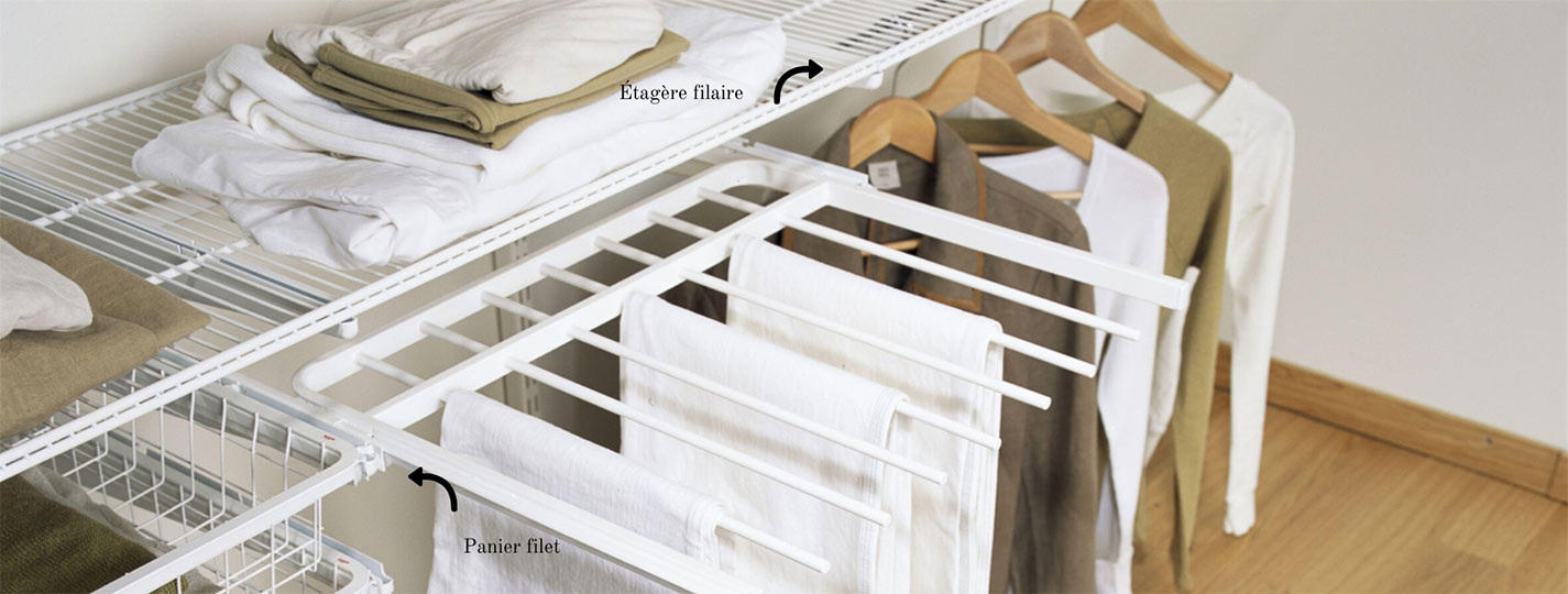 etagere en acier filaire elfa